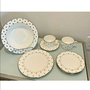 kate spade LARABEE ROAD Platinum China NWT 8 Pc